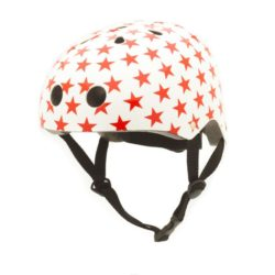 CoConuts - White Helmet With Red Stars (Medium)