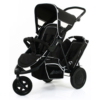 Hauck Freerider In Line Tandem Double Buggy Inc. Raincover - Black