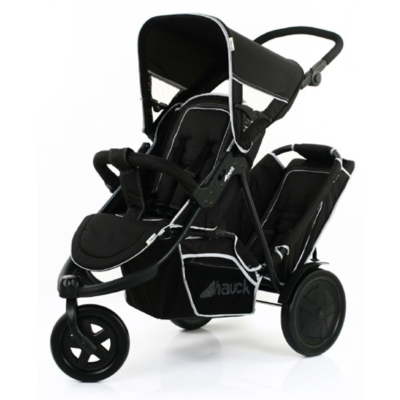 Hauck Freerider Double Pushchair - Blackle Buggy Inc. Raincover - Black