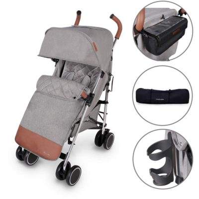 Ickle Bubba Discovery Prime Stroller - Grey on Silver Frame