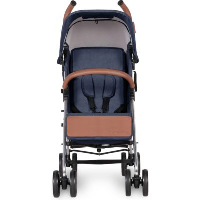 Ickle Bubba Discovery Stroller - Denim Blue on Silver Frame 2