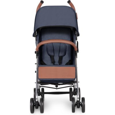Ickle Bubba Discovery Stroller - Denim Blue on Silver Frame