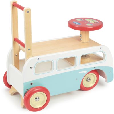 VILAC 2 IN 1 RETRO WOODEN CAMPER VAN WALKER