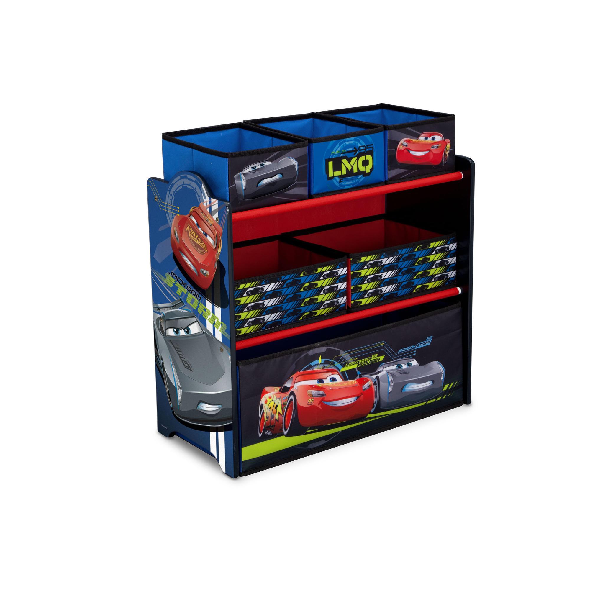 Delta Children Cars Multi Bin Toy Storage Smart Kid Store
