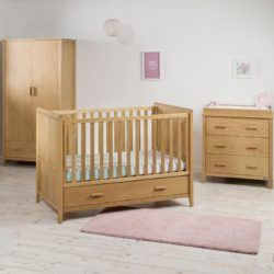 East Coast Dorset 3 Piece Oak Nursery Room Set