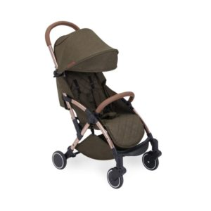 ickle bubba globe max stroller khaki on rose gold no footmuff