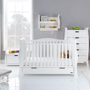 obaby stamford luxe 7 piece nursery room set builder in white