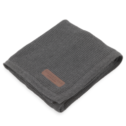 silver cloud pram blanket 100% cotton dark grey