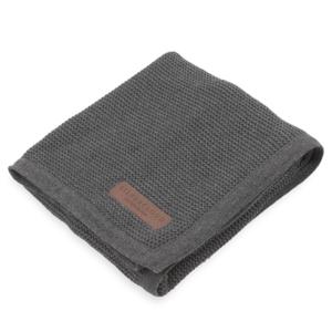 silver cloud pram blanket 100% cotton dark grey