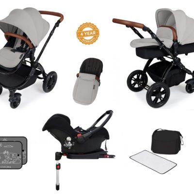stomp v3 silver on black with isofix