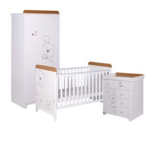 tutti bambini 3 bears 3 piece nursery room set in white 2
