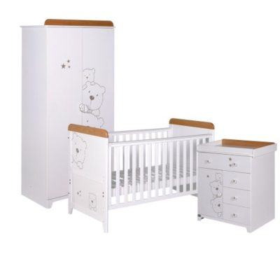tutti bambini 3 bears 3 piece nursery room set in white 2