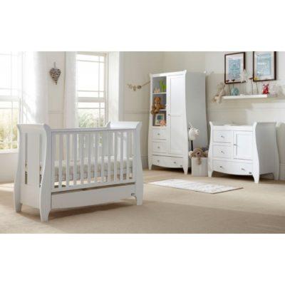 tutti bambini katie 3 piece nursery room set white