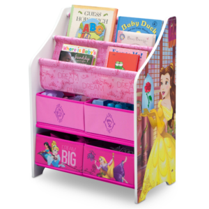 Delta Children Disney Princess Book and Toy Organizer1