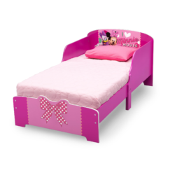 Delta Children Minnie Mouse Wooden Toddler Bed