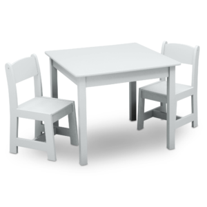 Delta Children White Table and Chairs Set