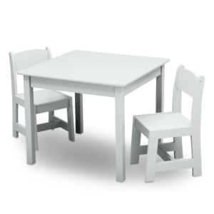 Delta Children White Table and Chairs Set1
