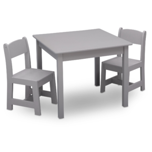 Delta Children grey table and chairs