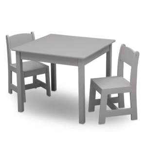 Delta Children grey table and chairs1