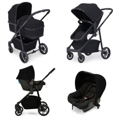 Ickle Bubba Moon 3-in-1 Travel System - Black