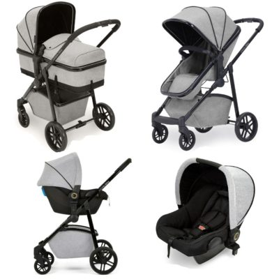Ickle Bubba Moon 3-in-1 Travel System - Silver Grey