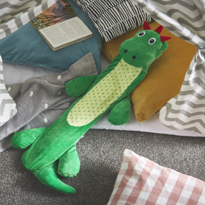 Potwells Dustin the Dinosaur Long Hot Water Bottle