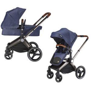 mee-go venice child kangaroo pram and stroller denim blue