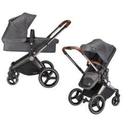 mee-go venice child kangaroo pram twilight grey pram and stroller