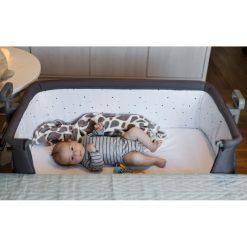 Kinderkraft Neste Bedside Crib (Dark Grey)