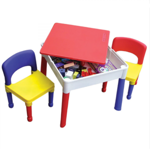 Liberty House Toys - 5 in 1 Multipurpose Square Activity Table & 2 Chairs