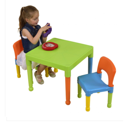 Liberty House Toys - Children's Multi-Coloured Table & 2 Chairs Set