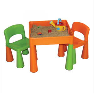 b4dd0a449fb3 Liberty House Toys – 5 in 1 Multipurpose Activity Table   2 Chairs – ORANGE    GREEN