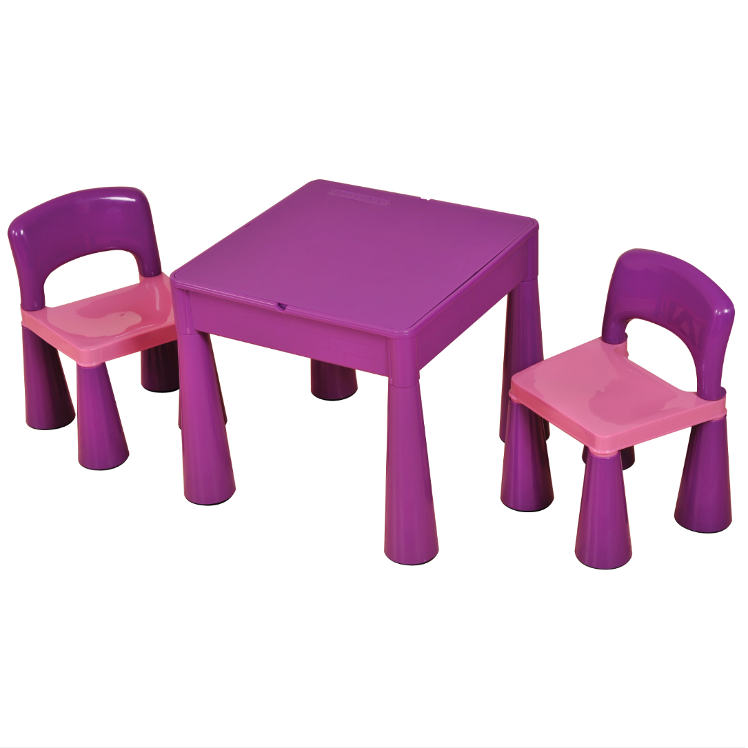 63fa2fcdf9f9 Liberty House Toys - 5 in 1 Multipurpose Activity Table   2 Chairs – PURPLE