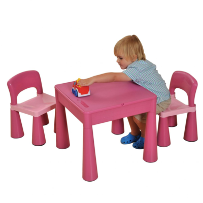 Liberty House Toys - 5 in 1 Multipurpose Activity Table & 2 Chairs – PINK