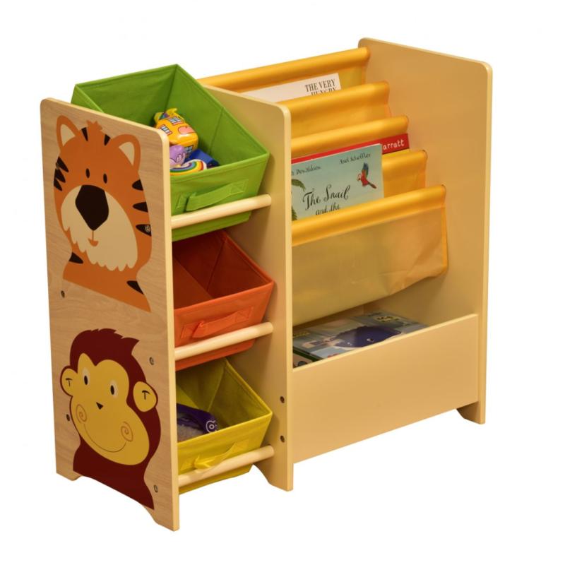 Liberty House Toys Jungle Shelf with 3 bins