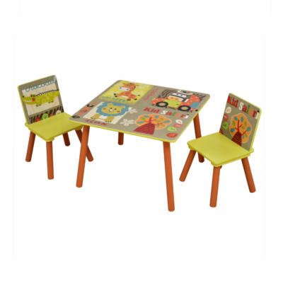 Liberty House Toys Kid Safari Table and Chairsnd Chair Set
