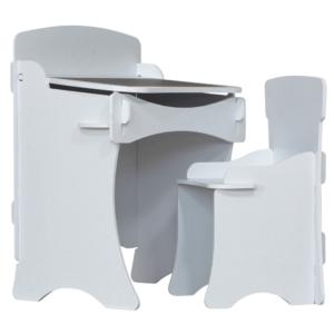 Kidsaw, Kinder Desk & Chair White2