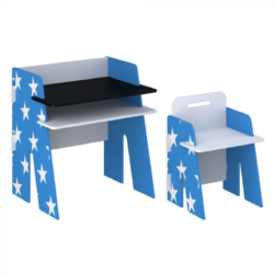 Kidsaw, Star Desk & Chair - Blue
