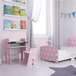 Kidsaw, Star Desk & Chair pink2