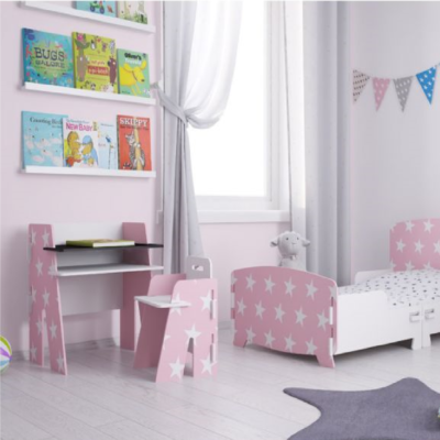 Kidsaw, Star Desk & Chair pink2