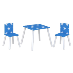 Kidsaw, Star Table & Chairs - Blue