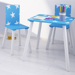 Kidsaw, Star Table & Chairs - Blue1