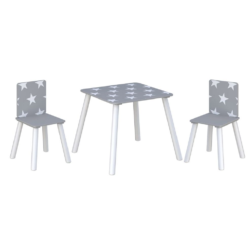 Kidsaw, Star Table & Chairs - Grey2