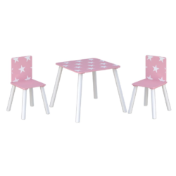 Kidsaw, Star Table & Chairs - pink1