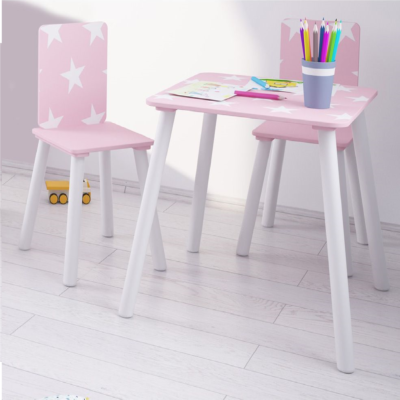 Kidsaw, Star Table & Chairs - pink2