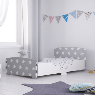 Kidsaw star junior toddler bed grey
