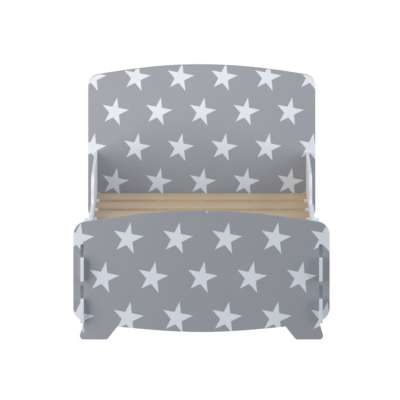 Kidsaw star junior toddler bed grey2