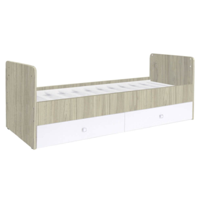 Kudl, Cotbed Simple 1100 with Drawer Unit ElmWhite 1
