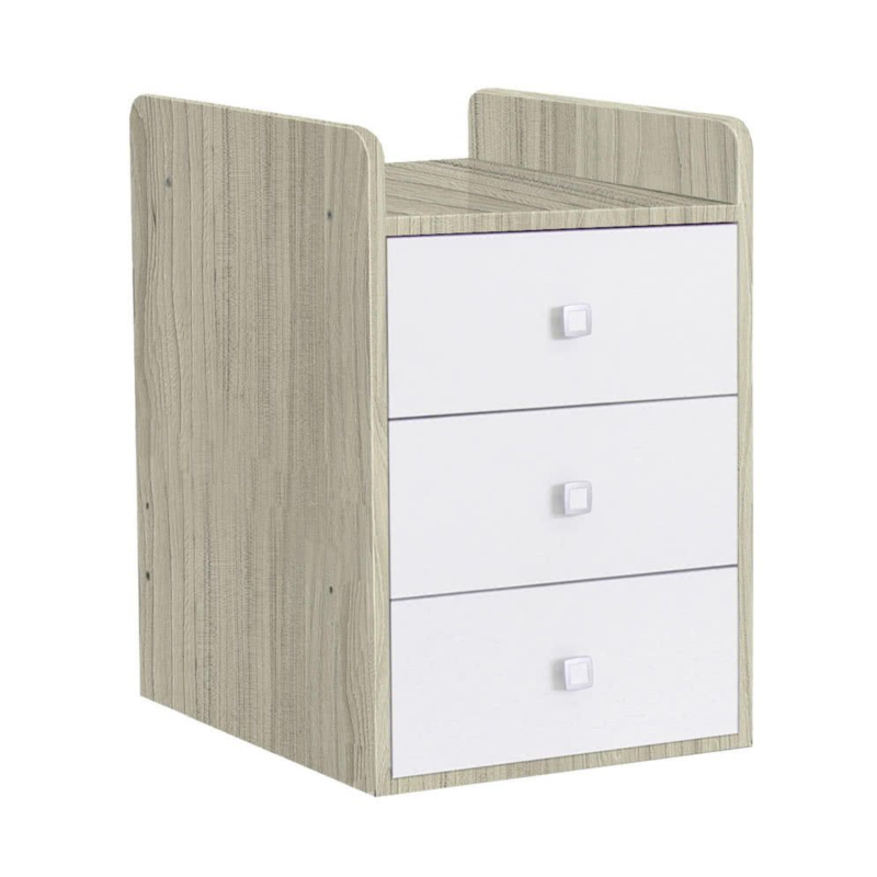 Kudl, Cotbed Simple 1100 with Drawer Unit ElmWhite 2