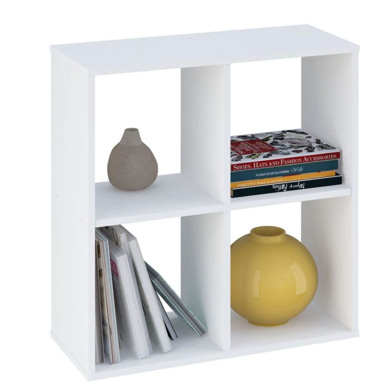 Kudl Home, Smart 4 Cubic Section Shelving Unit - White1
